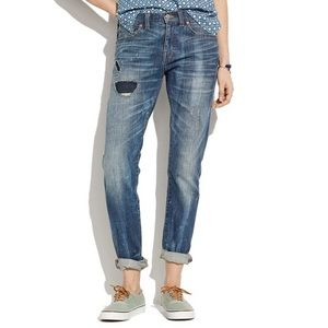 Madewell Distressed Slim Boyfriend Jeans